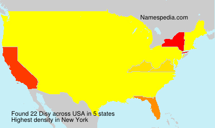 Surname Disy in USA