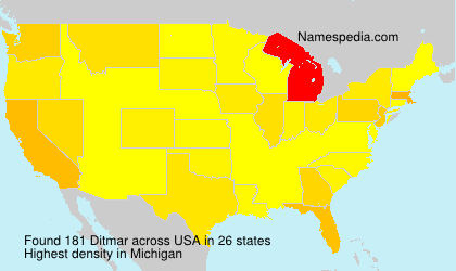 Surname Ditmar in USA