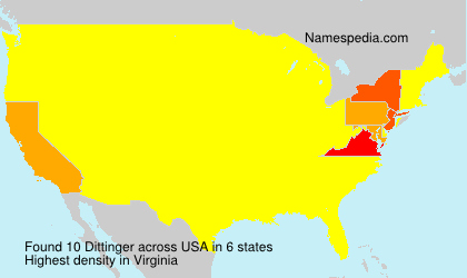 Surname Dittinger in USA
