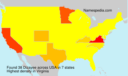 Surname Dizayee in USA
