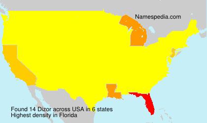 Surname Dizor in USA