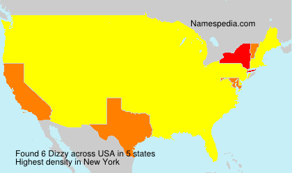 Surname Dizzy in USA