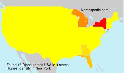 Familiennamen Djaha - USA
