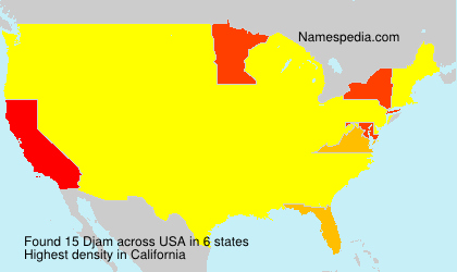Surname Djam in USA