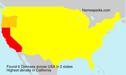 Surname Djernaes in USA