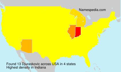 Surname Djuraskovic in USA