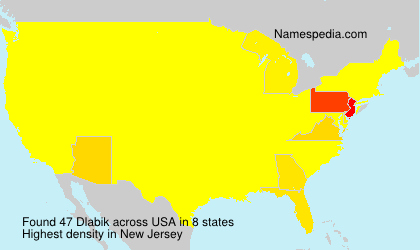 Surname Dlabik in USA