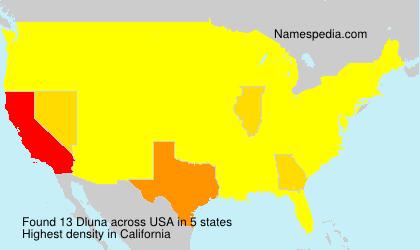 Surname Dluna in USA