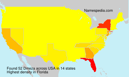 Surname Dmeza in USA