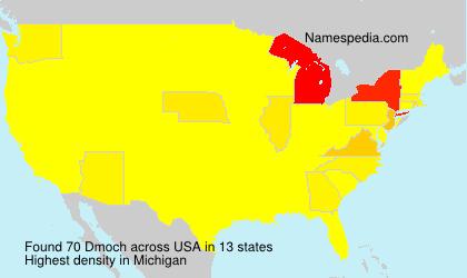 Familiennamen Dmoch - USA