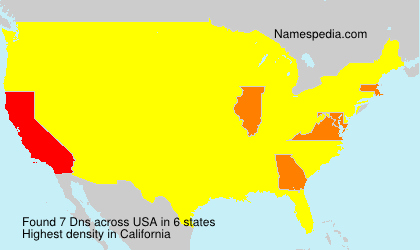Surname Dns in USA