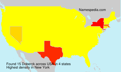 Surname Doberck in USA