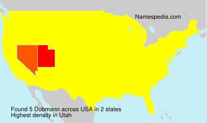 Surname Dobmann in USA
