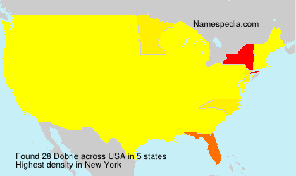 Familiennamen Dobrie - USA