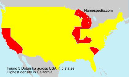 Surname Dobrinka in USA