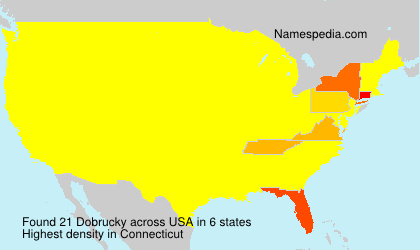 Surname Dobrucky in USA