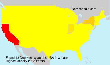 Surname Dobrzensky in USA