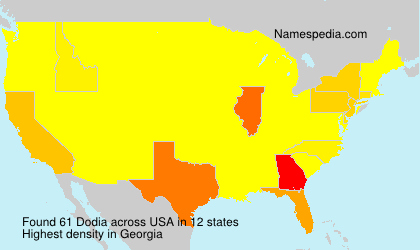 Surname Dodia in USA