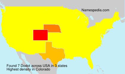 Surname Dodot in USA