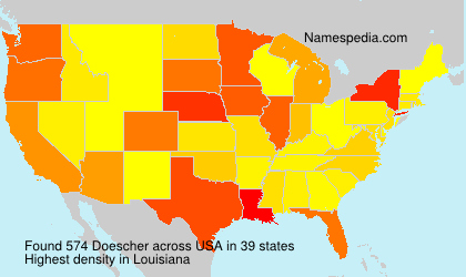 Surname Doescher in USA