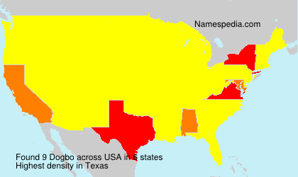Surname Dogbo in USA