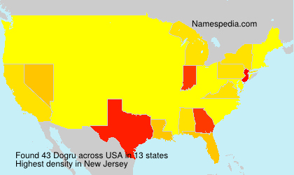 Surname Dogru in USA