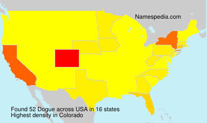 Surname Dogue in USA