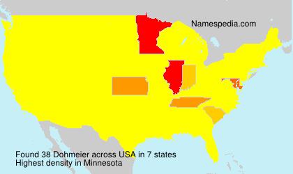 Surname Dohmeier in USA