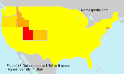 Surname Dolana in USA
