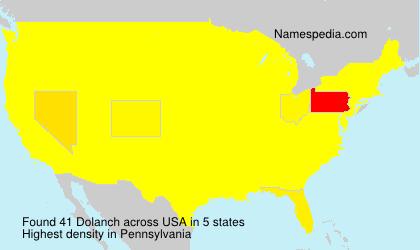 Surname Dolanch in USA