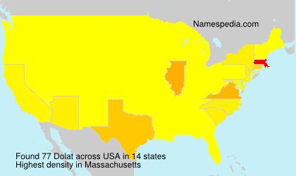 Surname Dolat in USA
