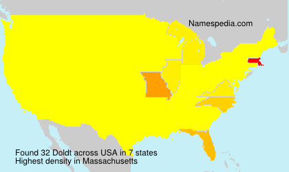 Surname Doldt in USA