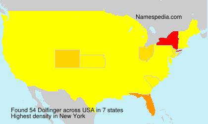 Surname Dolfinger in USA