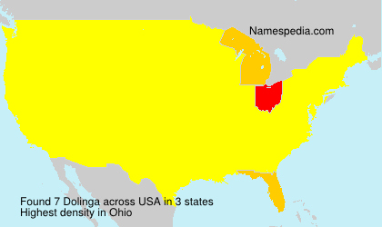 Surname Dolinga in USA