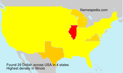Familiennamen Dollah - USA
