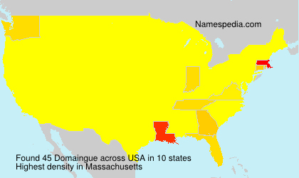 Surname Domaingue in USA