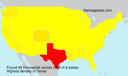 Surname Domaschk in USA