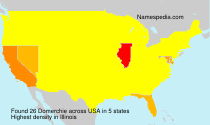 Surname Domerchie in USA