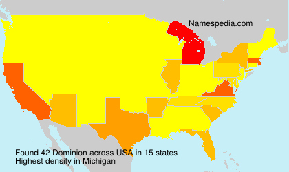 Surname Dominion in USA