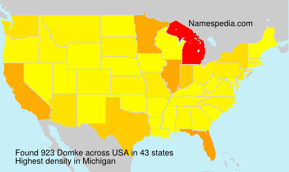 Surname Domke in USA