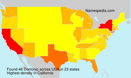 Surname Domonic in USA