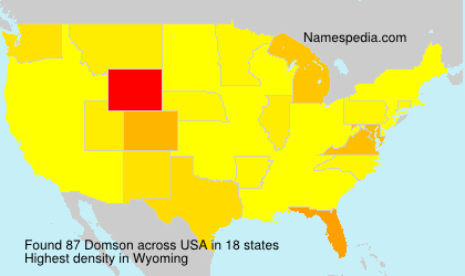 Surname Domson in USA