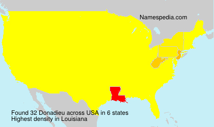 Surname Donadieu in USA