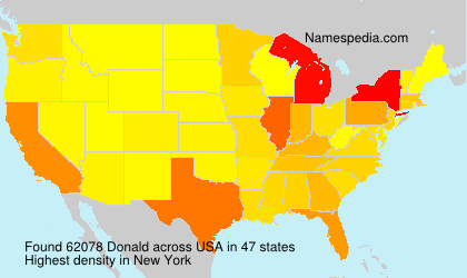 Surname Donald in USA