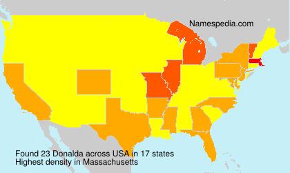 Surname Donalda in USA