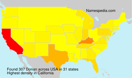 Surname Donan in USA