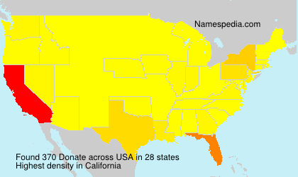 Surname Donate in USA