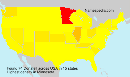 Surname Donatell in USA
