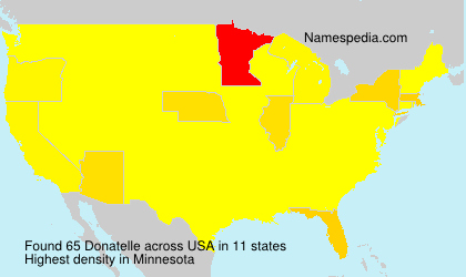 Surname Donatelle in USA