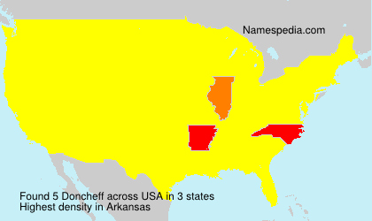 Surname Doncheff in USA